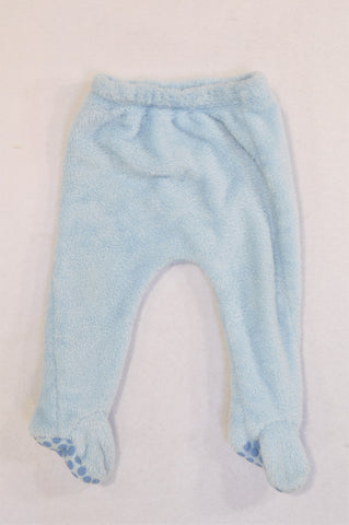 Woolworths Light Blue Fleece Leggings Unisex 6-12 months