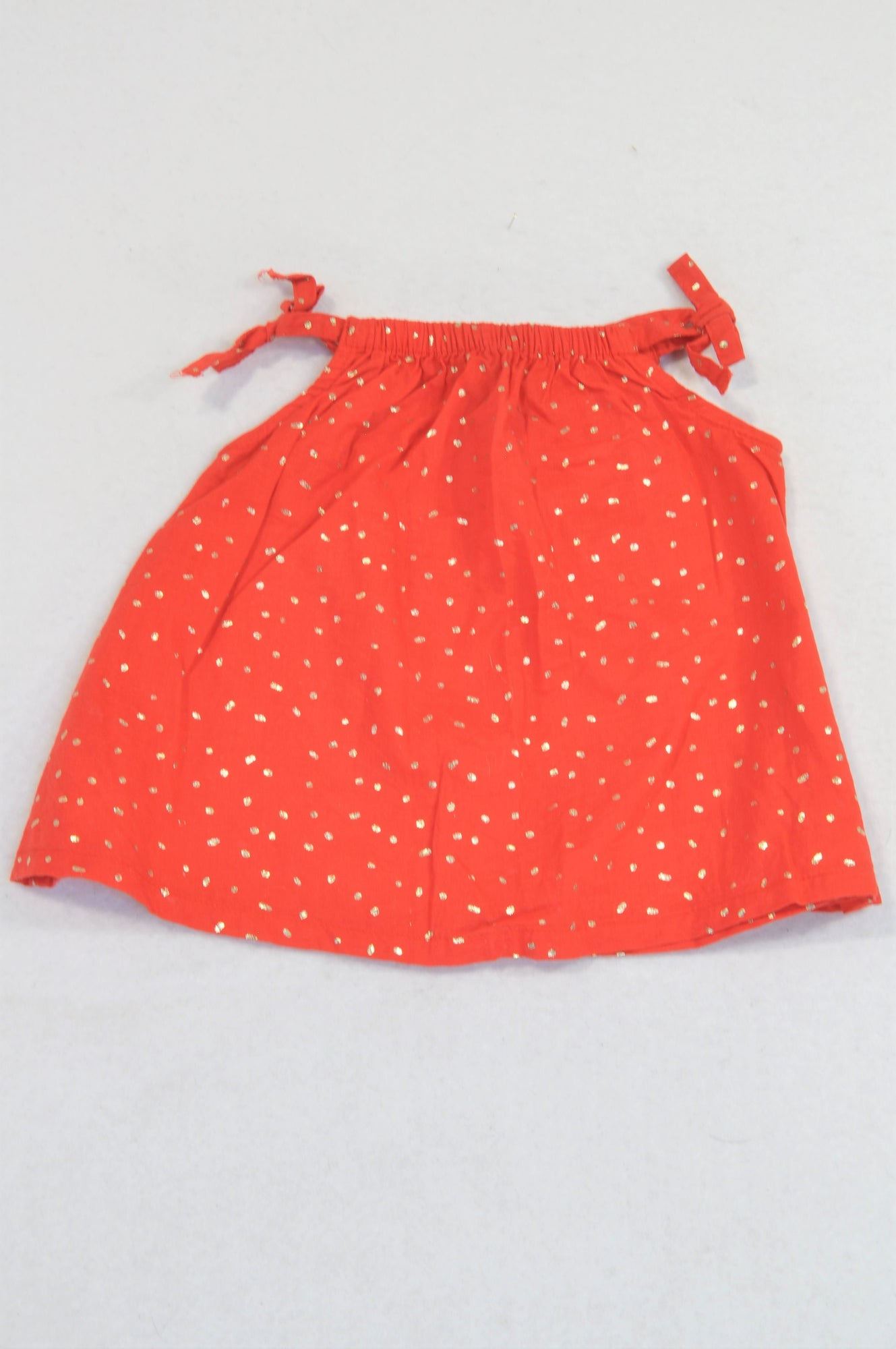 Woolworths Gold Confetti Red Blouse & Grey Cropped Leggings Outfit Girls 0-3 months