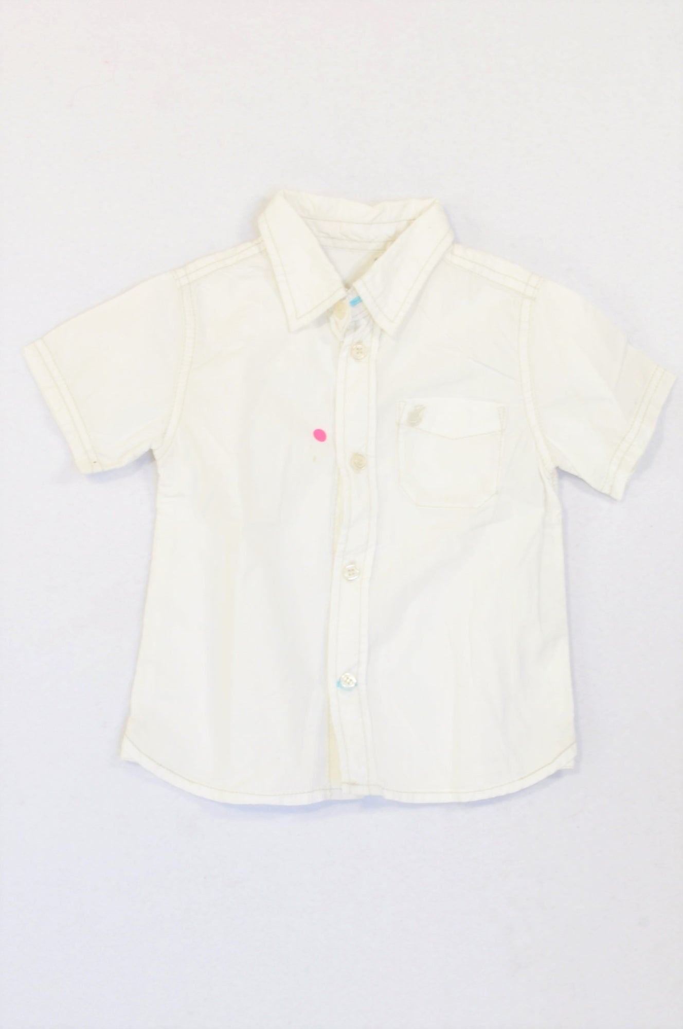 Unbranded Basic White Lightweight Button Shirt Boys 1-2 years