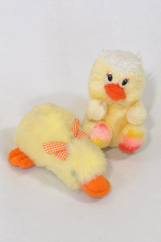 2 Pack Duckling Soft Toys  Unisex N-B to 2 years