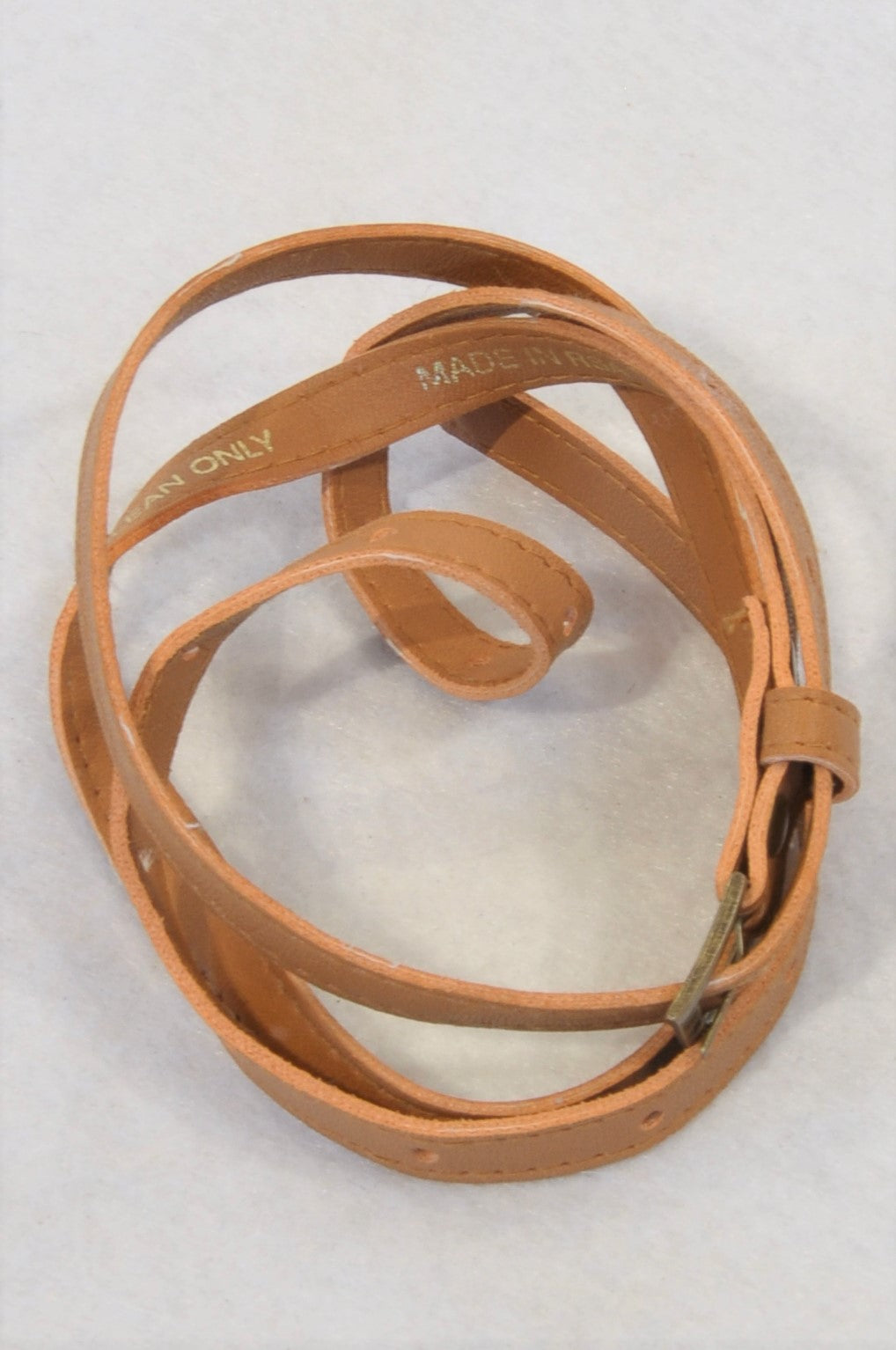 Unbranded Brown Thin Belt Women Size M