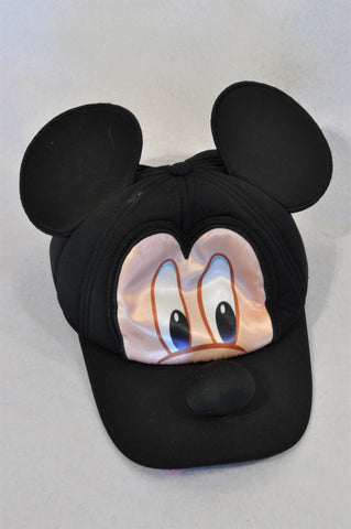 Disney Black Mickey Mouse Hat Unisex 3-7 years