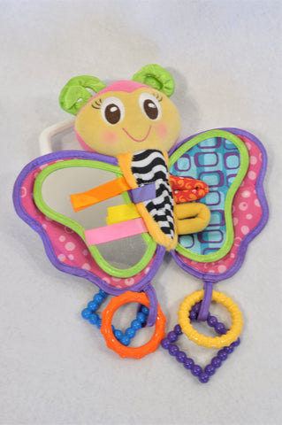 Playgro Multi Color Sensory Crinkle Butterfly Toy Girls N-B to 1 year
