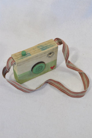 Unbranded Green Wooden Camera Toy Unisex 3-10 years