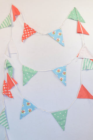 Unbranded Coral, Mint Dotty Triangle Bunting Unisex N-B to 2 years