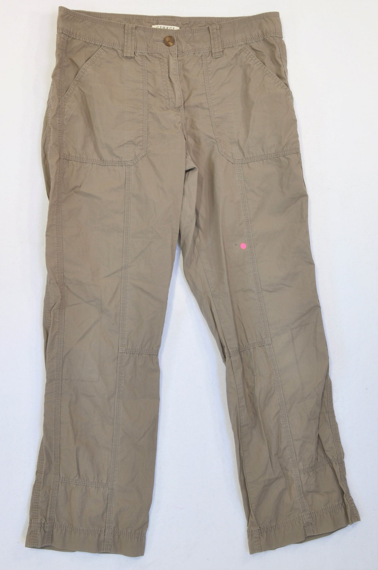 George Soft Brown Lightweight Cargo Pants Women Size 14