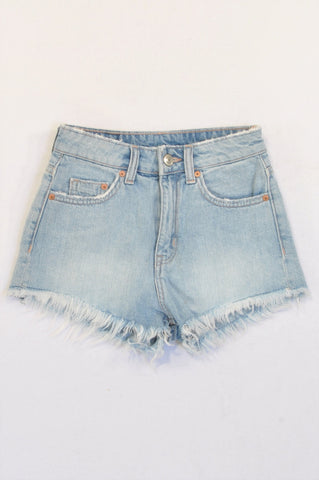 H&M Light Wash Cut Off Denim Shorts Girls 12-14 years