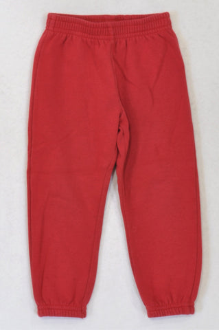 Woolworths Basic Red Track Pants Unisex 2-3 years