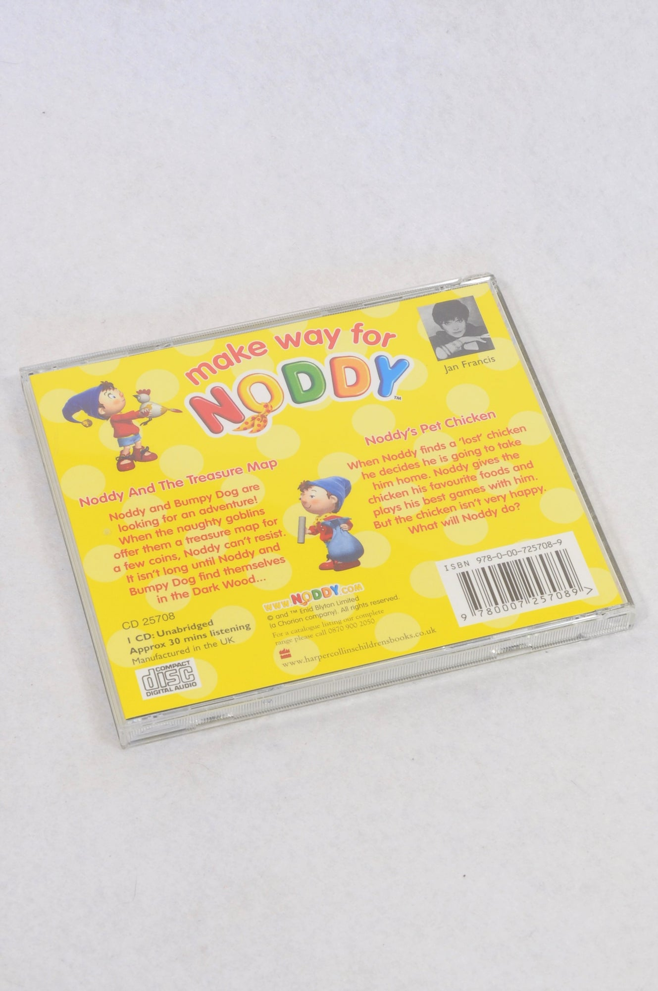 Unbranded Make Way For Noddy CD Unisex 2-6 years