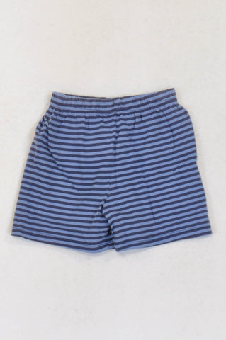 Woolworths Blue & Purple Striped Shorts Boys 3-4 years