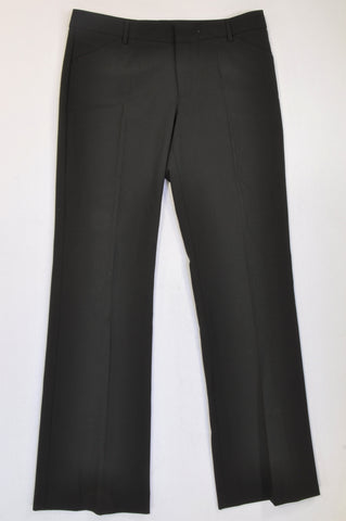 Woolworths Basic Black Pleated Detail Office Pants Women Size 14