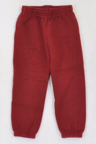 Woolworths Wine Red Track Pants Unisex 2-3 years