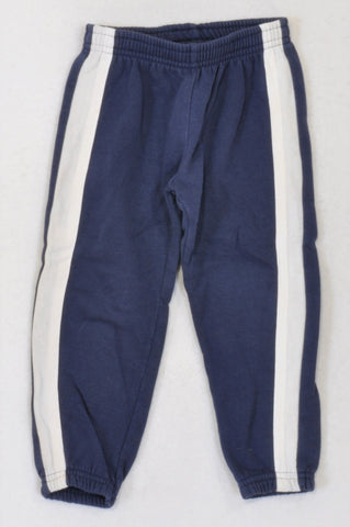 Woolworths Navy & White Striped Pants Boys 2-3 years