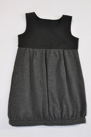 Mothercare Black & Charcoal Panel Bubble Dress Girls 18-24 months
