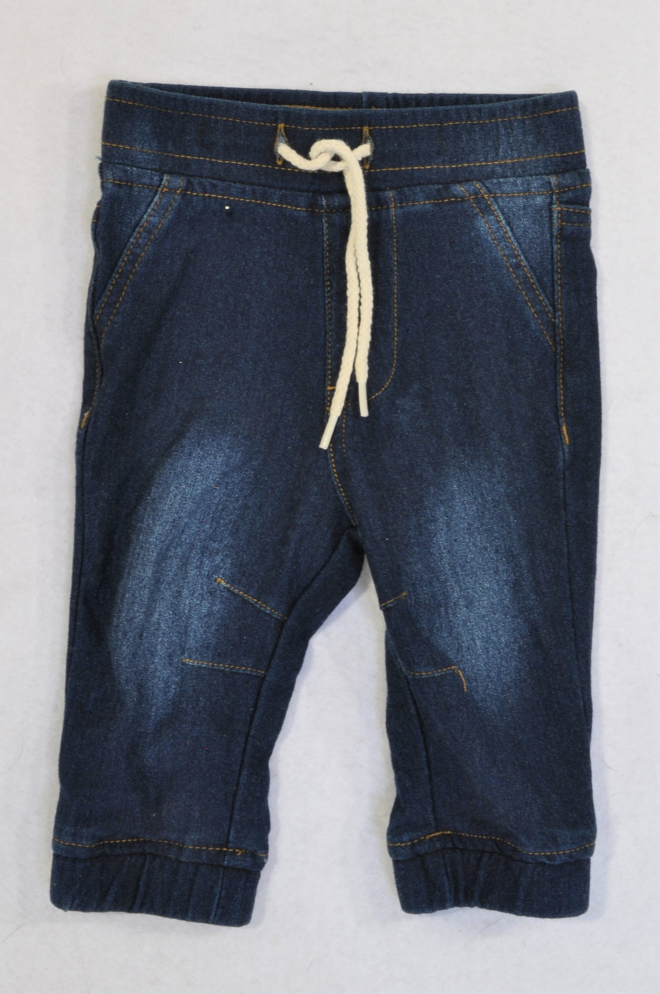 Exact Dark Denim Cuffed Tie Pants Unisex 3-6 months