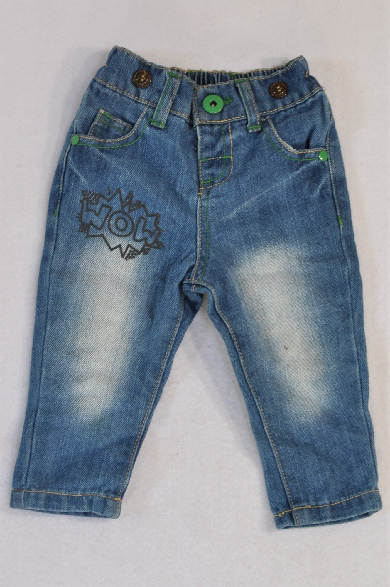 Edgars Denim Acid Wash WOW Jeans Boys 3-6 months