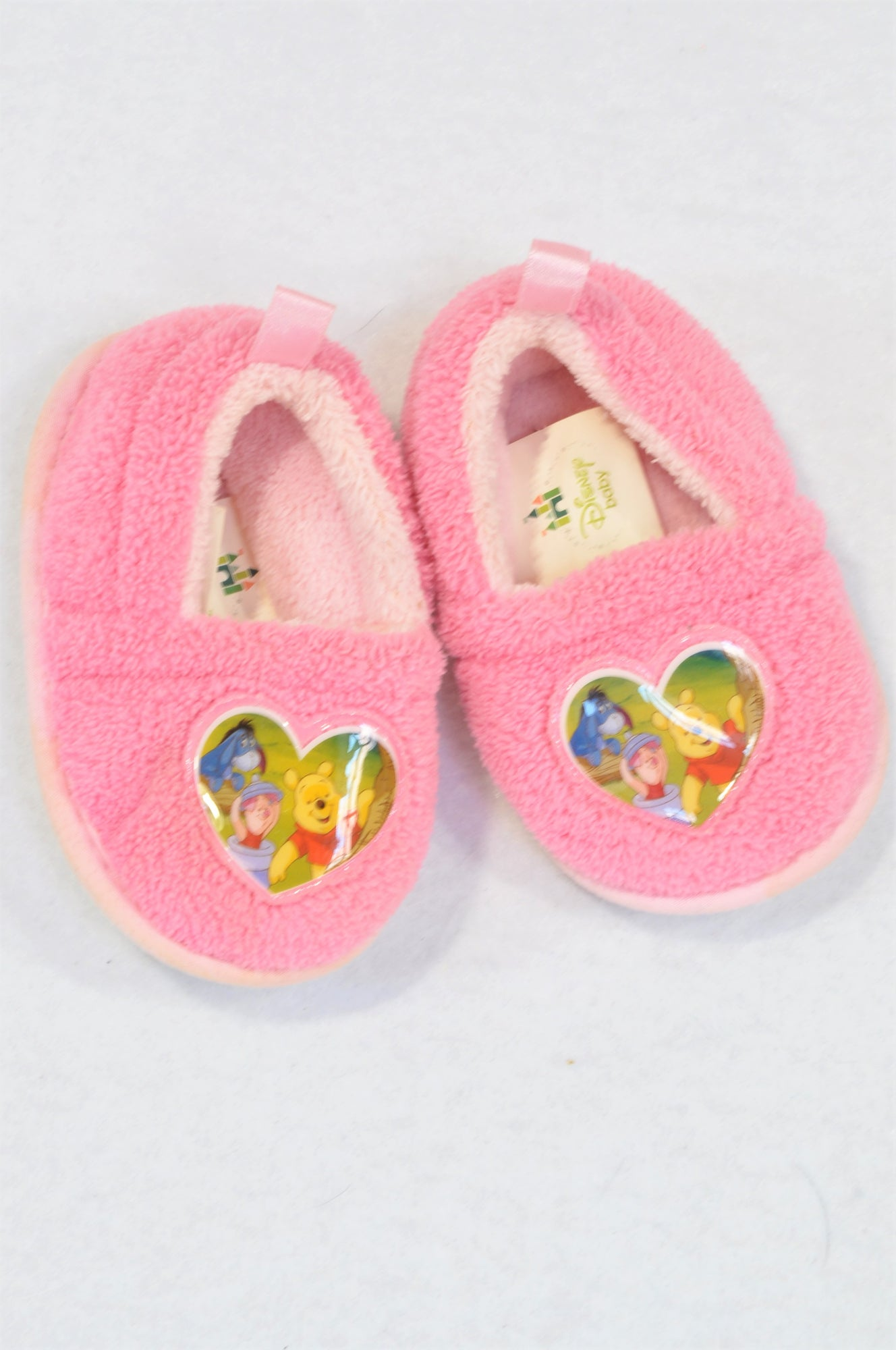 Disney Size 1 Pink Pooh Bear Slippers Girls 3-6 months
