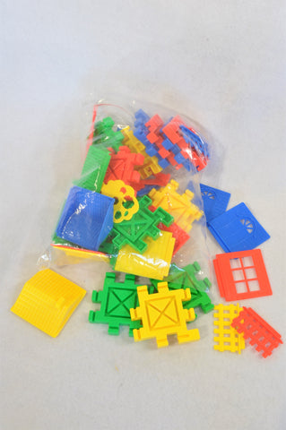 Unbranded Multi Color Flat Shaped Square Fit Construction Pieces Toy Unisex 3-10 years