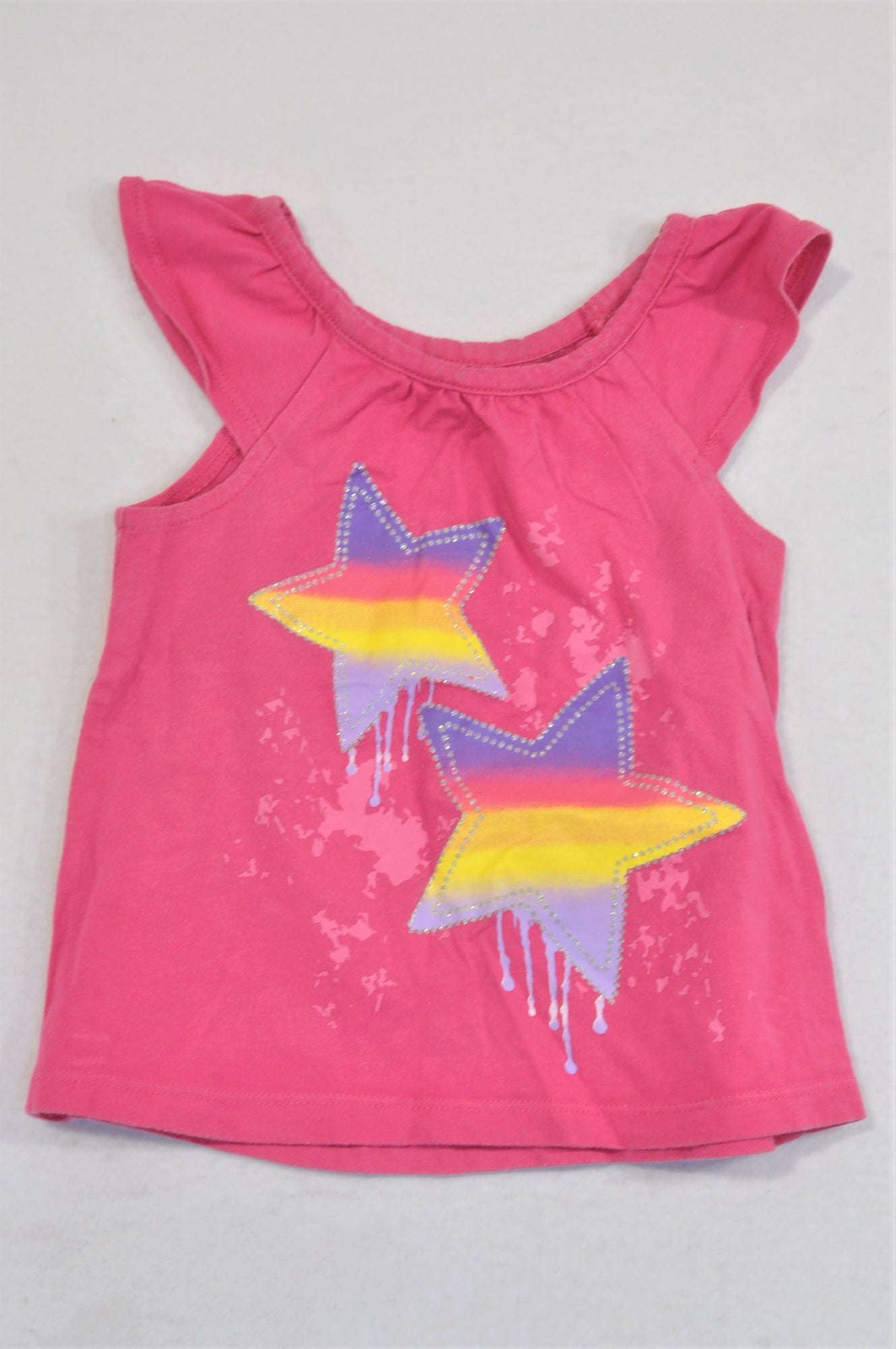 Tex Pink Multi Color Star T-shirt Girls 12-18 months