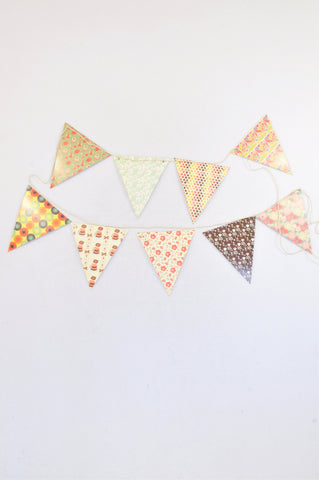 New JQ Multi Print Paper Flags Party Decoration Unisex All Ages