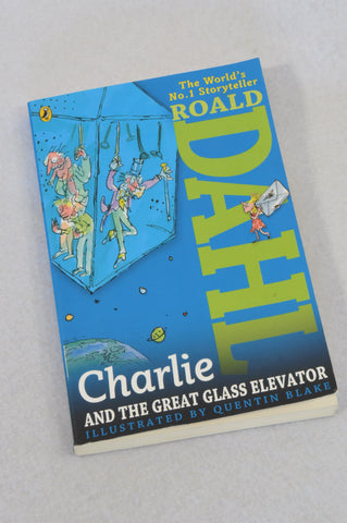 Unbranded Charlie & The Great Glass Elevator Paperback Roald Dahl Book Unisex 6+ years