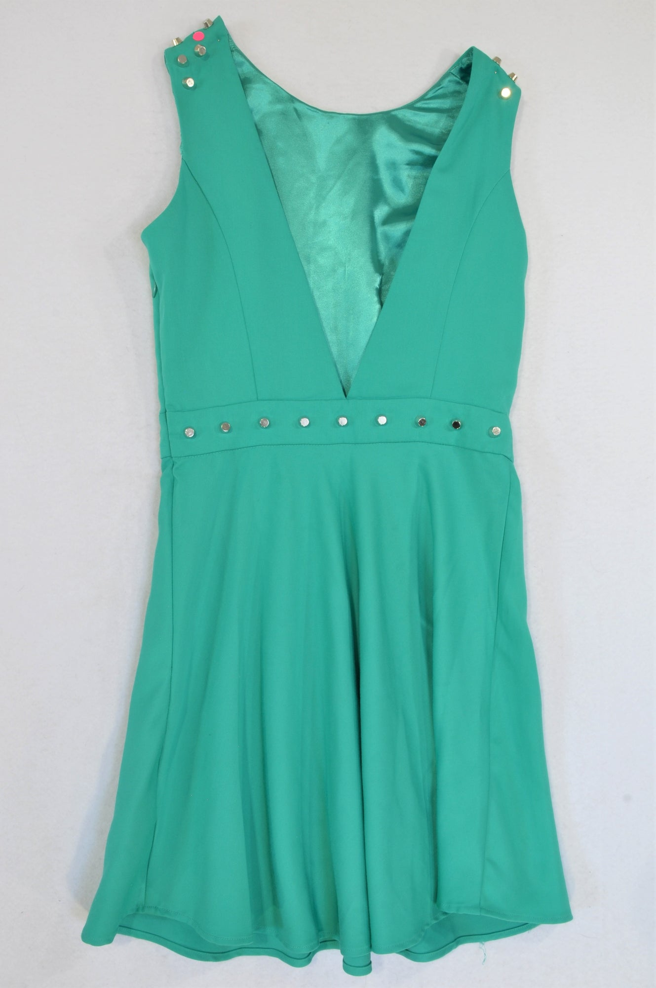 Forever 21 Green Studded Dress Women Size S