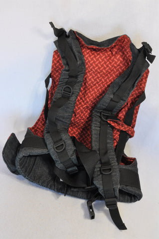 African Baby Carrier Denim & Red Deluxe Baby Carrier Unisex 3 months to 3 years