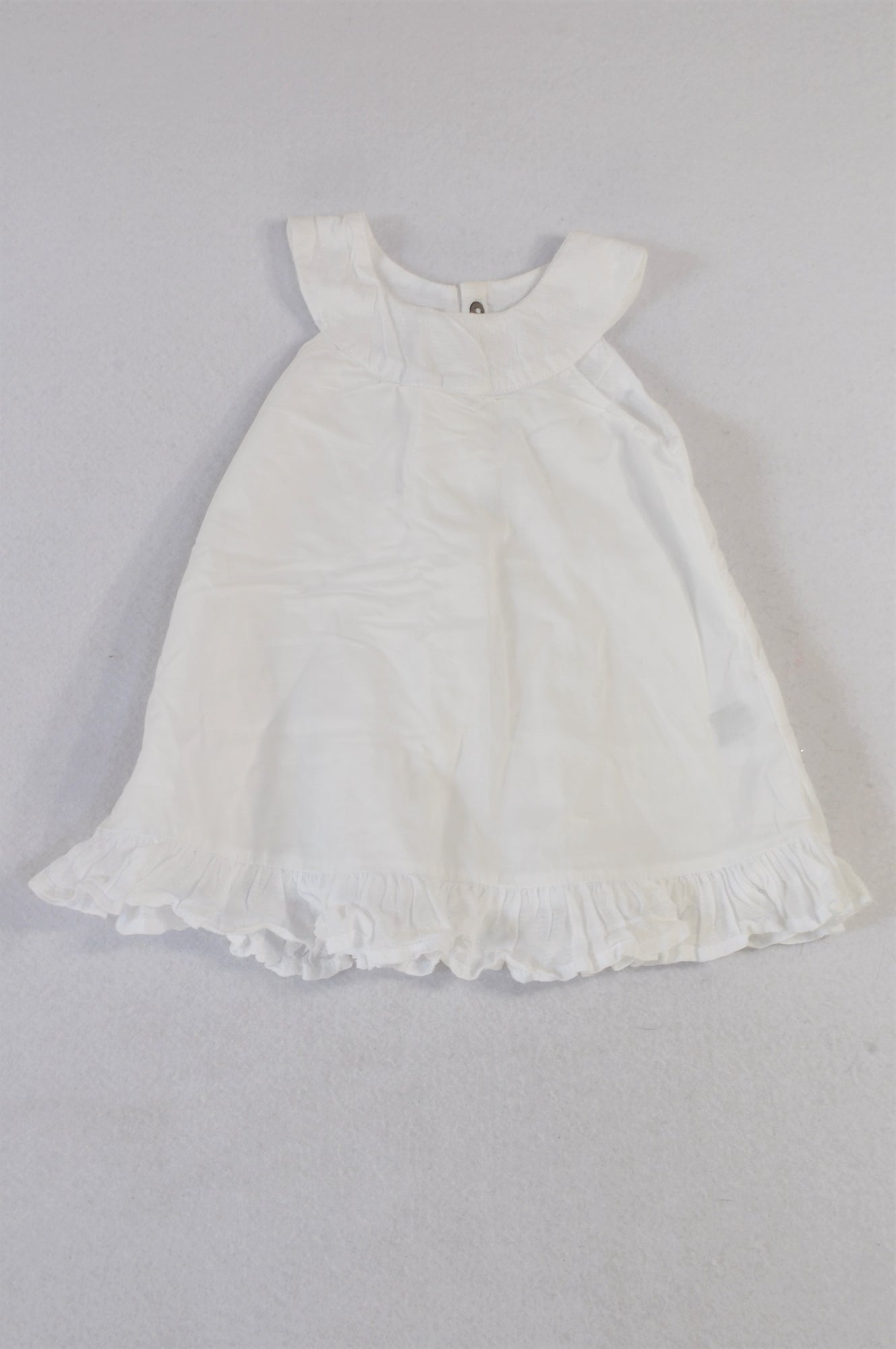 Woolworths White Frill Lightweight Blouse Girls 0-3 months