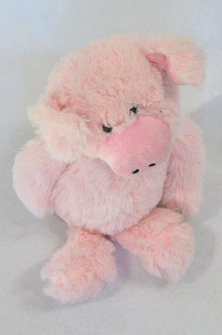 Unbranded Pink Fluffy Piggy Soft Toy Unisex N-B to 5 year