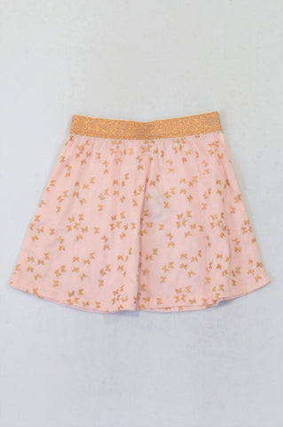 New Pep Pink Gold Butterfly Skirt Girls 5-6 years