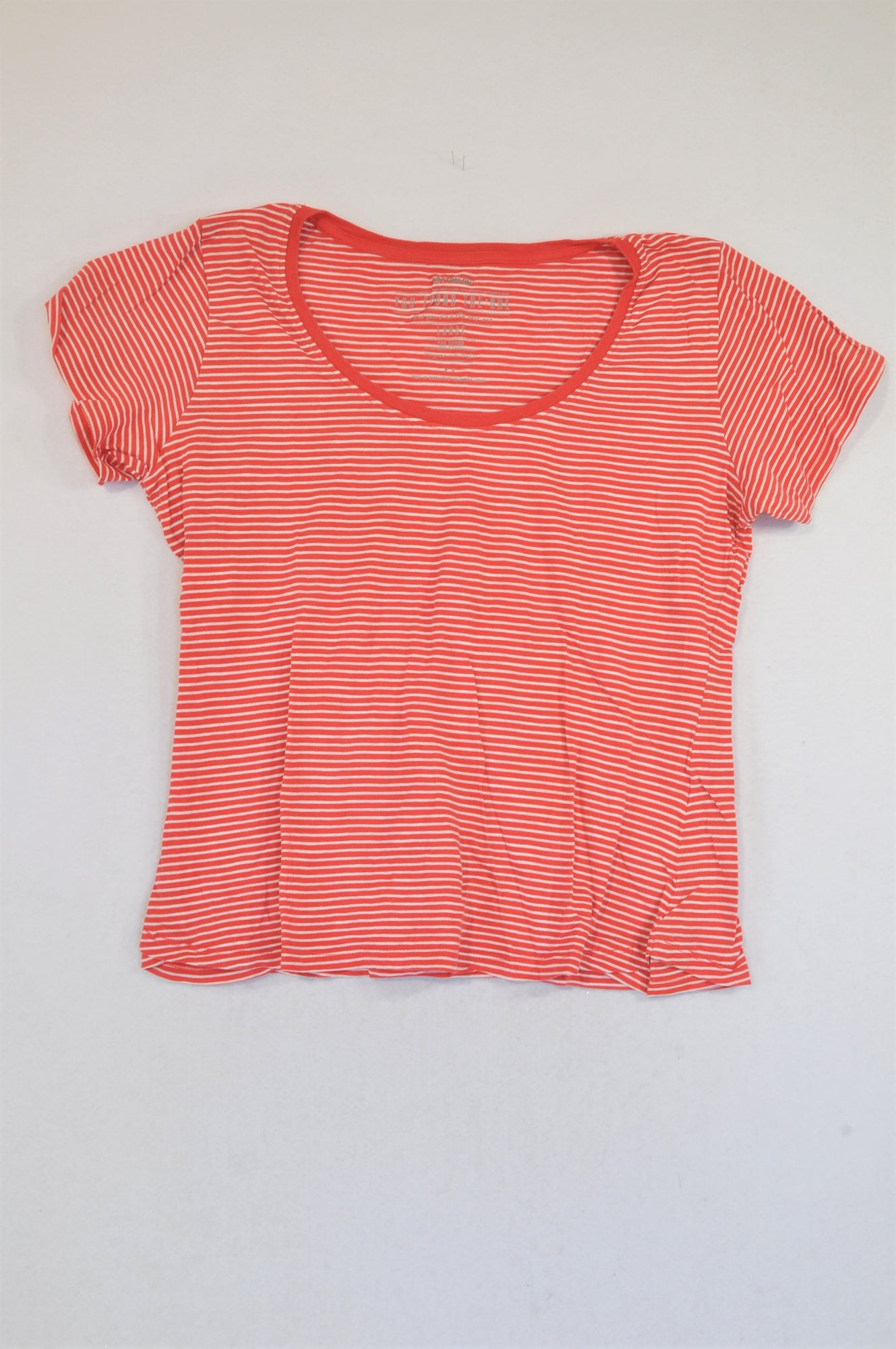 Cotton On Red & White Stripe Cap Sleeve T-shirt Women Size L