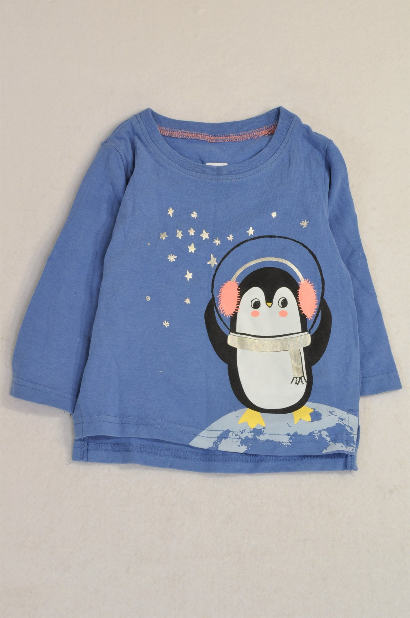 Woolworths Blue Star Penguin T-shirt Girls 3-6 months