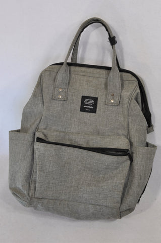 4 A Kid Grey Backpack Nappy Bag Unisex N-B to 1 year
