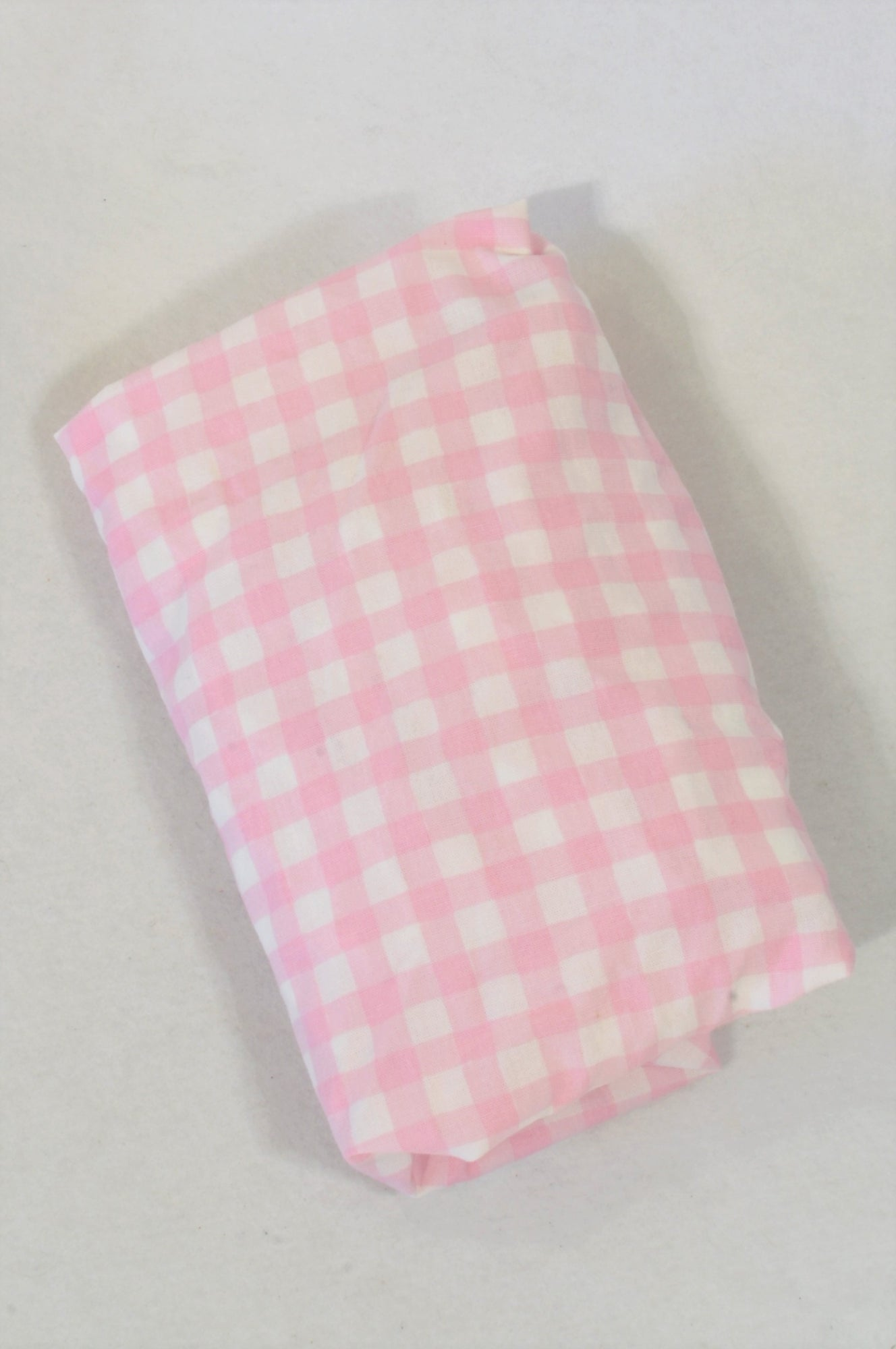 Treehouse Pink Checkered Moses Basket Fitted Sheet Bedding Girls N-B to 6 months