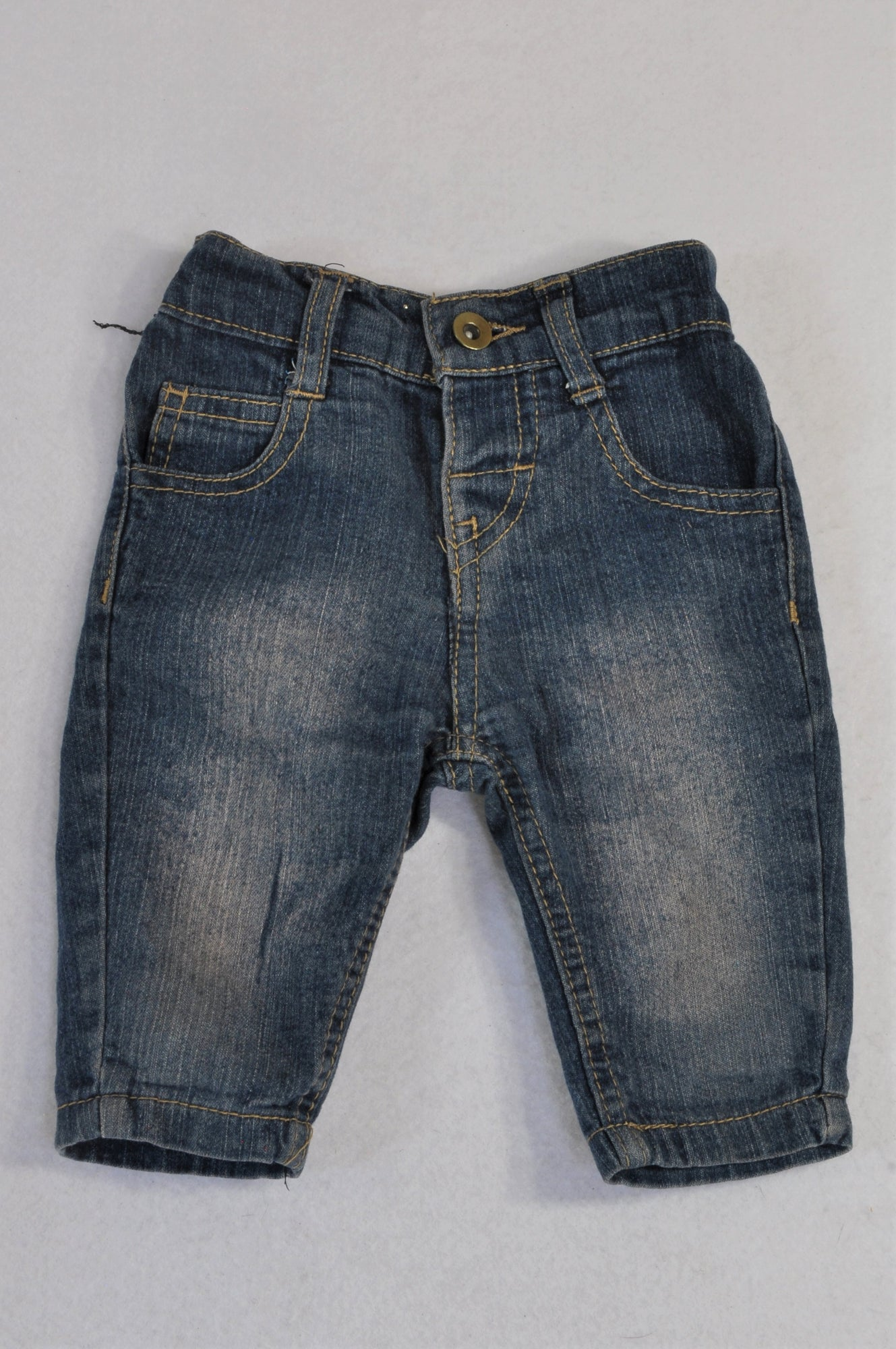 Jet Stone Washed Denim Jeans Boys 3-6 months