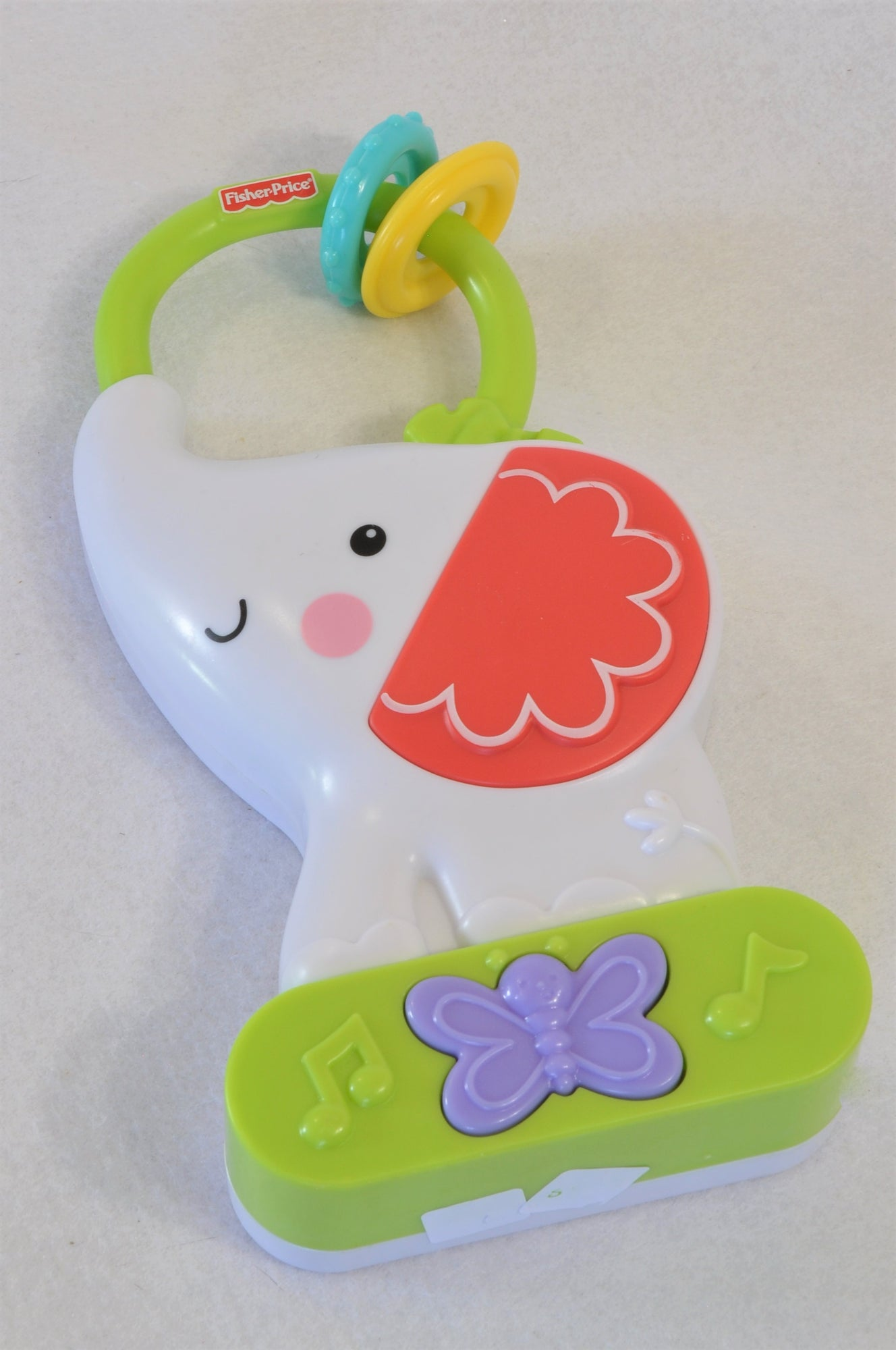 Fisher Price White Elephant Musical Nightlight Toy Unisex N-B to 1 year