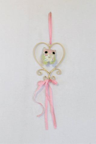 Unbranded Pink String Heart Owl Decor Unisex All Ages