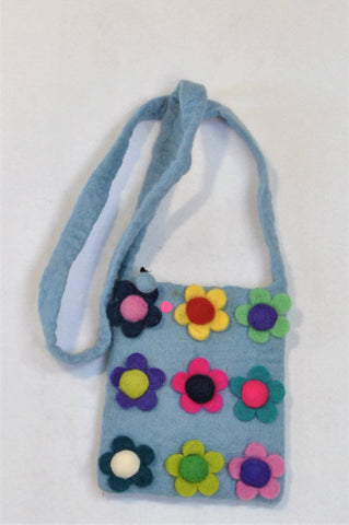 Unbranded Blue Flower Bag Girls 7-14 years