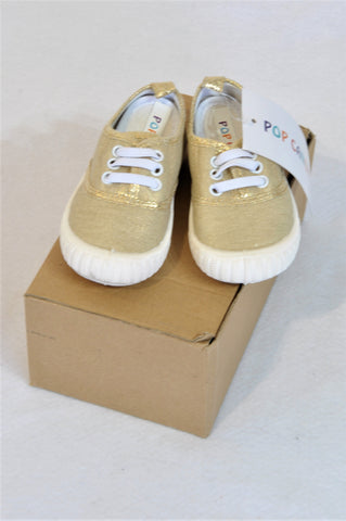 New Pop Candy Size 4 Gold Metallic Shoes Girls 12-18 months