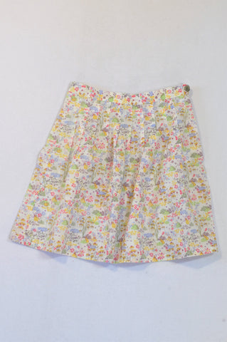Petit Bateau Yellow & Green Floral Skirt Girls 5-6 years