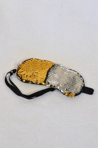 Unbranded Gold & Silver Reverse Sequin  Eye Mask Girls 5+ years