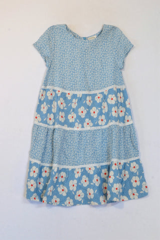 Johnny B Light Blue Daisy Lace Trim Dress Girls 11-12 years