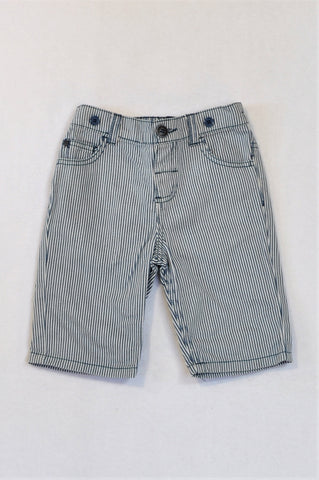 Edgars Navy & White Thin Stripe Shorts Boys 3-4 years