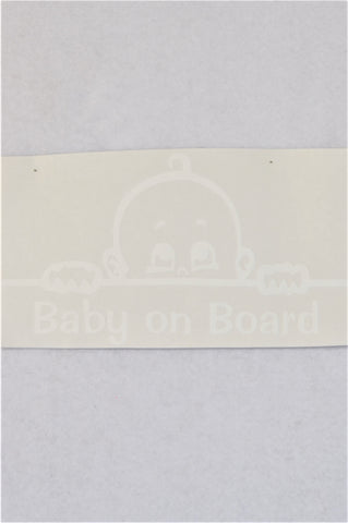 New Unbranded Baby On Board Vinyl Car Window Sticker Sign Unisex N-B to 2 years