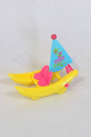 Polly Pocket Yellow & Blue Sailboat Toy Girls 1-10 years