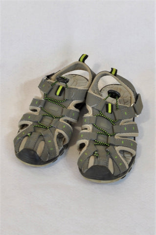 Unbranded Size Y3 Grey & Yellow Adventure Sandals Boys 10-12 years