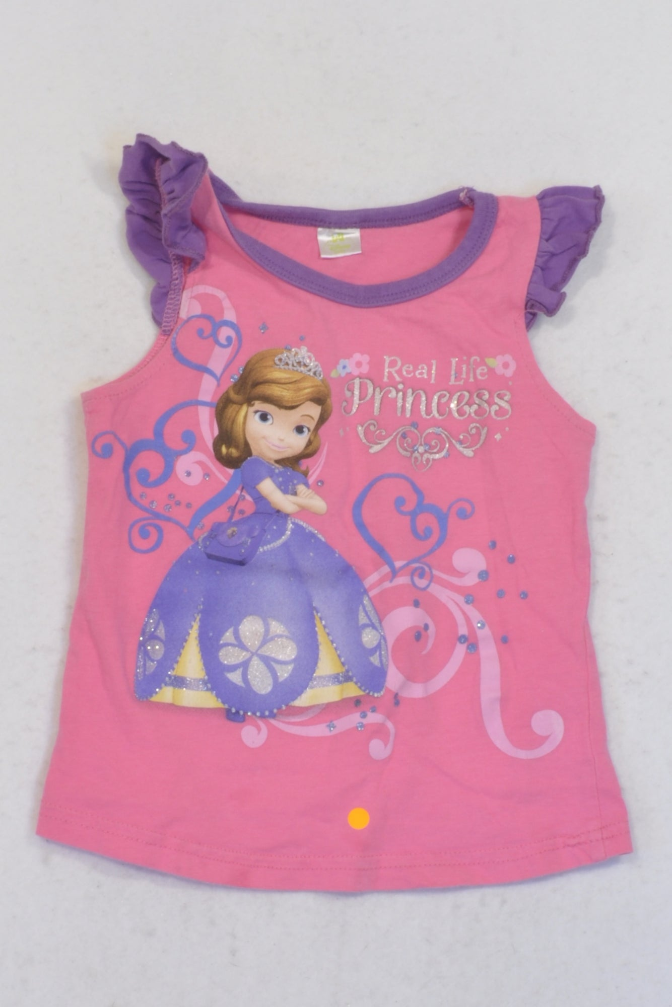 Disney Pink & Purple Sofia T-shirt Girls 18-24 months