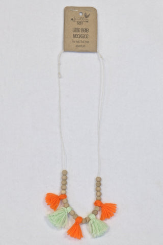 New Smitten Ever After Orange & Mint Tassel Wooden Beaded Necklace (1 of 2) Accessory Girls 4-10 years