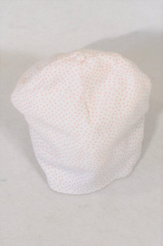 H&M Pink Dotty Organic Cotton Beanie Girls 4-6 months