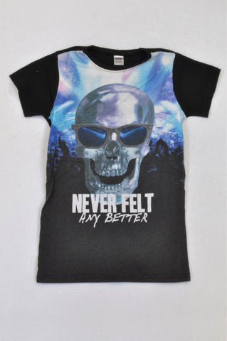 ca4c47e62 Revolution Black Skull Never Felt Better T-shirt Boys 9-10 years